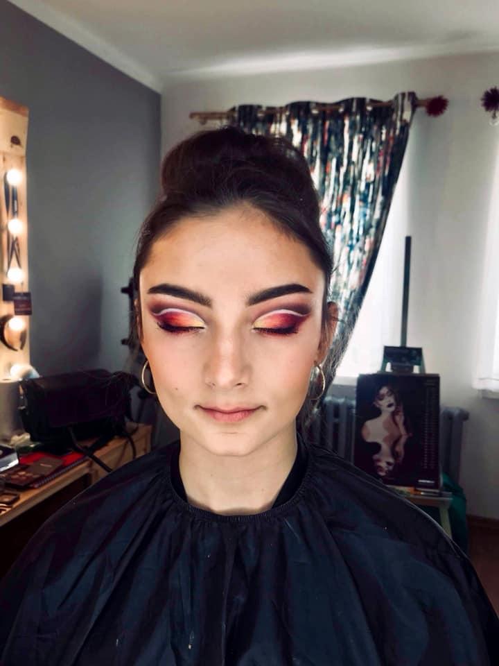 Makijaż kolorowy, szkolenie indywidualne dla Wioletta Drohomorecka